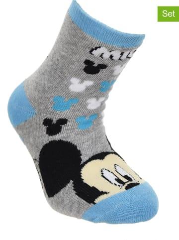 """Disney Mickey Mouse Skarpety (2 pary) """"Mickey"""" w kolorze szarym i granatowym"""