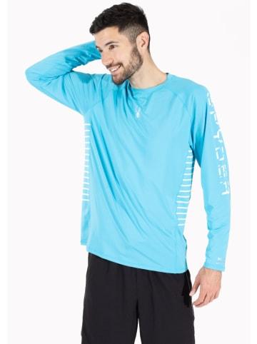 SPYDER Trainingsshirt lichtblauw