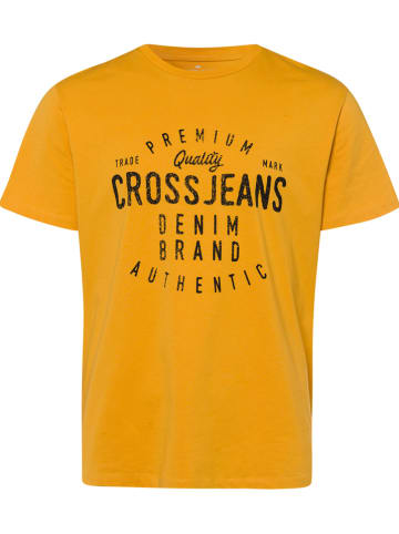 Cross Jeans Shirt mosterdgeel