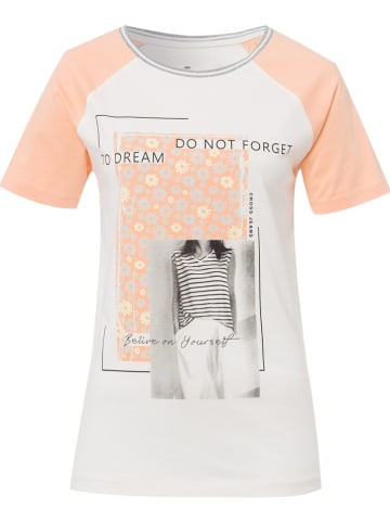 Cross Jeans Shirt crème/lichtroze