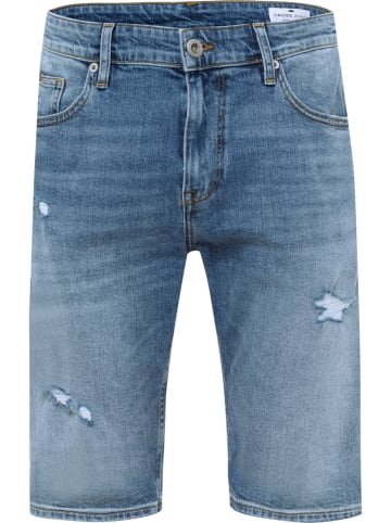 """Cross Jeans Spijkershort """"Leom"""" - regular fit - blauw"""