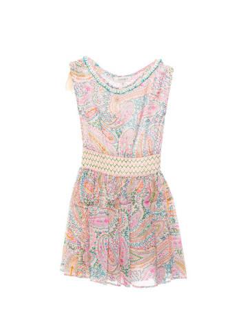 Twinset Sukienka w kolorze różowym ze wzorem