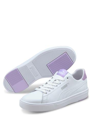 """Puma Skórzane sneakersy """"Serve Pro Lite"""" w kolorze biało-fioletowym"""