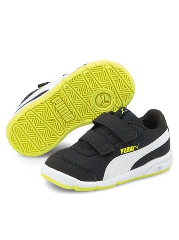 """Puma Sneakersy """"Stepfleex 2 Mesh VE"""" w kolorze czarno-biało-żółtym"""