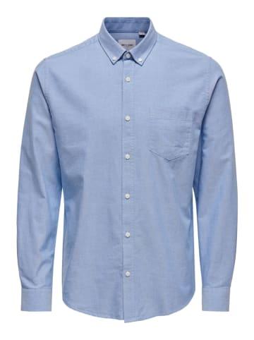 """ONLY & SONS Koszula """"Alvaro"""" - Regular fit - w kolorze błękitnym"""