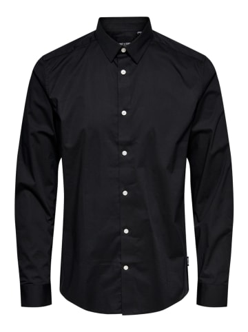 "ONLY & SONS Koszula ""Bart"" - Regular fit - w kolorze czarnym"