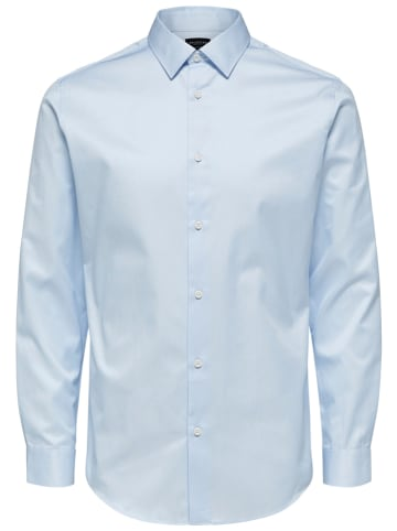 "SELECTED HOMME Koszula ""Pell"" - Slim fit - w kolorze błękitnym"