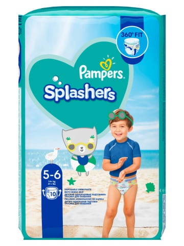 """Pampers Pieluszki kąpielowe (10 szt.) """"Splashers"""" - rozmiar 5-6, 14+ kg"""