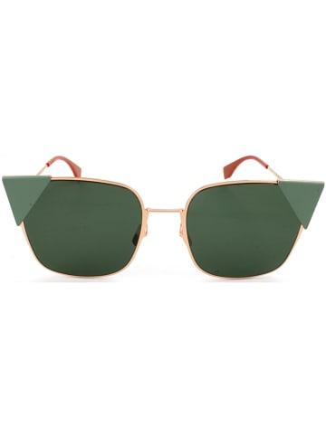 Fendi Dameszonnebril goudkleurig-rood/groen