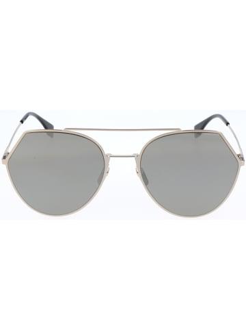 Fendi Dameszonnebril goudkleurig-zwart/grijs