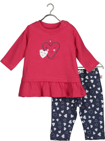 Blue Seven 2-delige outfit roze/donkerblauw