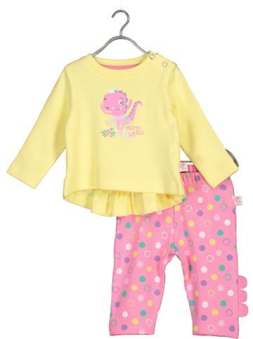 Blue Seven 2-delige outfit geel/lichtroze