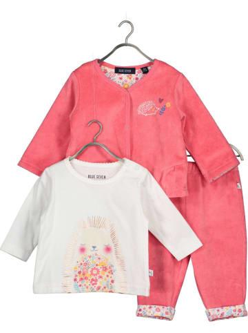 Blue Seven 3-delige outfit roze/wit