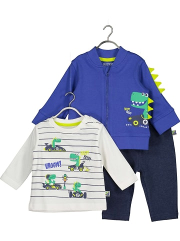 Blue Seven 3-delige outfit wit/blauw/donkerblauw