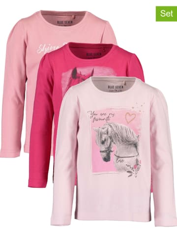 Blue Seven Koszulki (3 szt.) w kolorze różowym