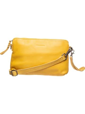 """FREDs BRUDER Leren clutch """"Sunny"""" geel - (B)26 x (H)17 x (D)4 cm"""