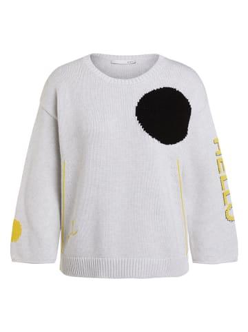 Oui Sweter w kolorze czarno-biało-żółtym