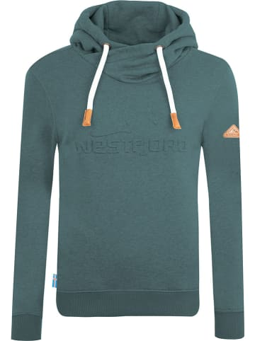 "Westfjord Bluza ""Askja"" w kolorze morskim"