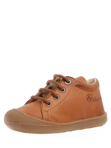 """Naturino Skórzane sneakersy """"Cocon"""" w kolorze jasnobrązowym"""
