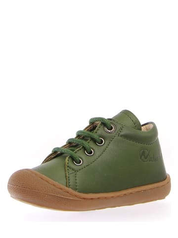 """Naturino Skórzane sneakersy """"Cocoon"""" w kolorze zielonym"""