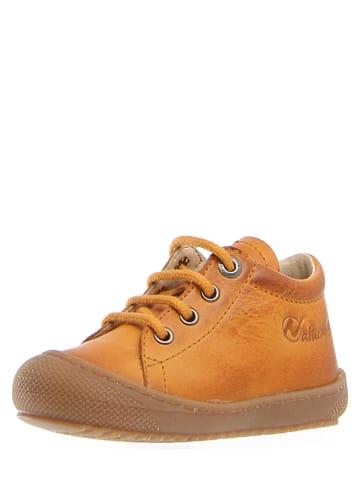 """Naturino Skórzane sneakersy """"Cocon"""" w kolorze musztardowym"""