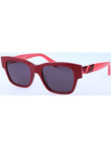 Max Mara Dameszonnebril rood-roze/zwart