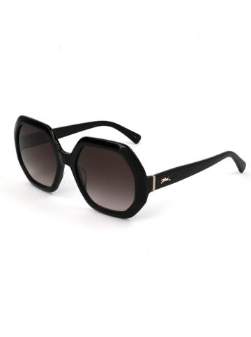 Longchamp Damskie okulary przeciwsłoneczne w kolorze ciemnobrązowo-czarnym