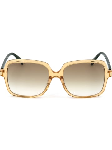 Longchamp Damskie okulary przeciwsłoneczne w kolorze żółto-czarno-jasnobrązowym