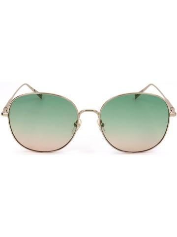 Longchamp Damskie okulary przeciwsłoneczne w kolorze jasnoróżowo-zielono-złotym