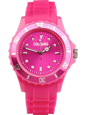 Colours Zegarek kwarcowy w kolorze różowym