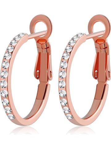 Park Avenue Pozłacane kolczyki-kreole z kryształami Swarovski