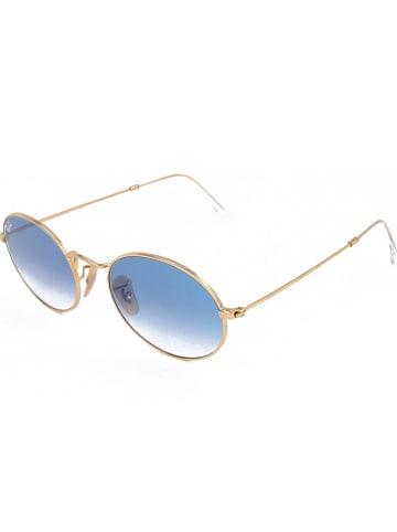 Ray Ban Damskie okulary przeciwsłoneczne w kolorze złoto-niebieskim