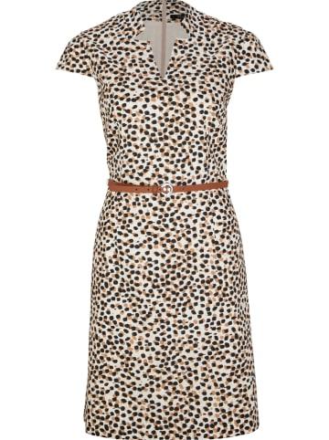 Comma Kleid in Weiß/ Beige
