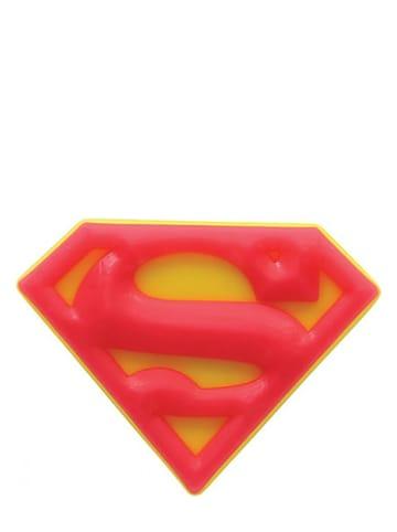 """Crocs Przypinka """"Superman Logo"""" w kolorze czerwono-żółtym na buty"""