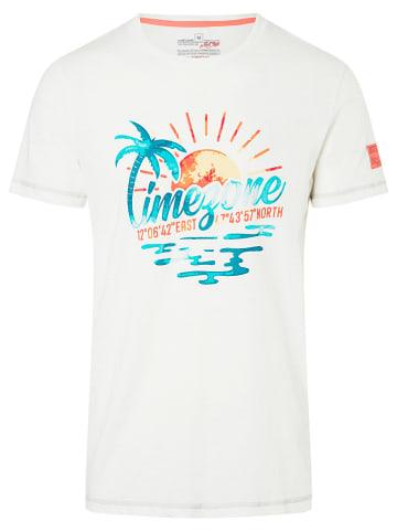 """Timezone Koszulka """"Palms"""" w kolorze białym"""