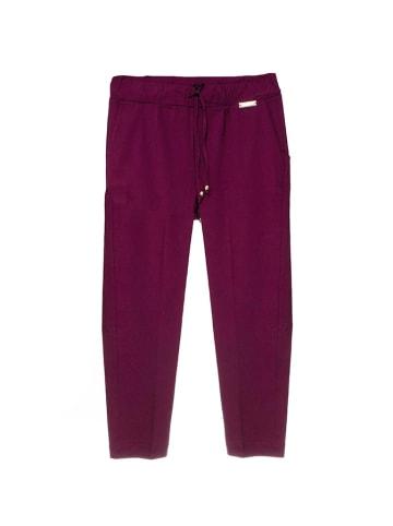 Twinset Spodnie w kolorze śliwkowym