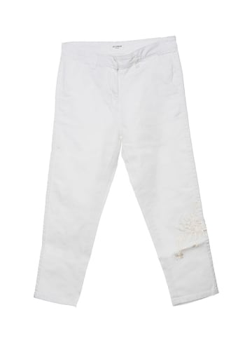 Twinset Spodnie w kolorze białym