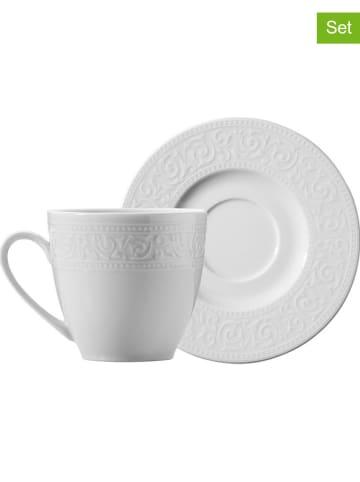 Hermia Filiżanki (6 szt.) w kolorze białym do espresso