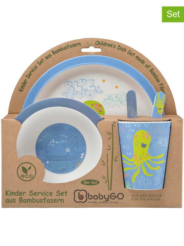 "BabyGo 5tlg. Geschirrset ""Octopus"" in Blau"