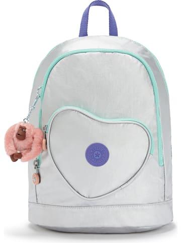 """Kipling Skórzany plecak """"Heart"""" w kolorze szarym - 24 x 31,5 x 14 cm"""