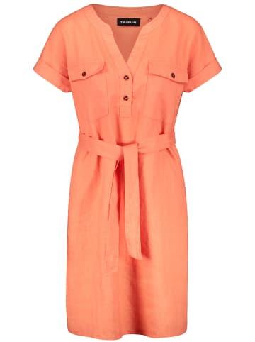 TAIFUN Leinen-Kleid in Orange