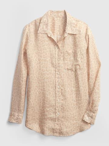 GAP Lniana bluzka w kolorze beżowym