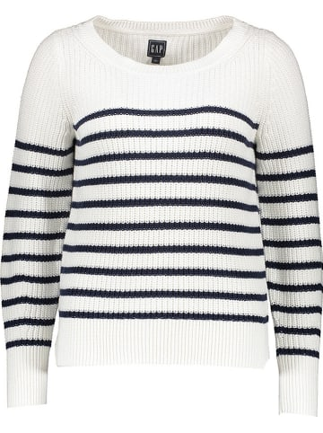GAP Sweter w kolorze biało-granatowym