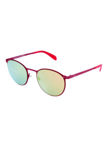 """Calvin Klein Okulary przeciwsłoneczne """"CK5412S"""" w kolorze czerwono-zielonym"""