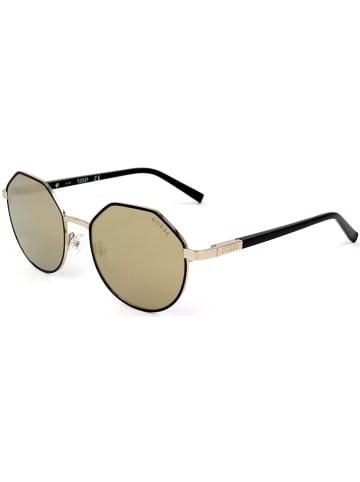 """Guess Okulary przeciwsłoneczne """"GU3034"""" w kolorze jasnobrązowo-czarnym"""