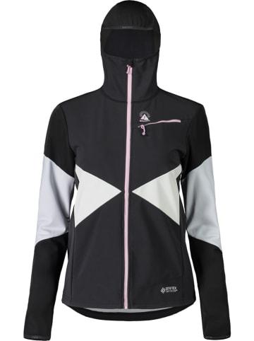 """Maloja Kurtka narciarska """"Mountaineering"""" w kolorze biało-czarnym"""