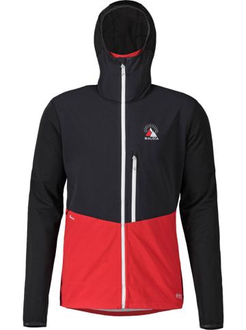 """Maloja Kurtka narciarska """"Mountaineering"""" w kolorze czarno-czerwonym"""