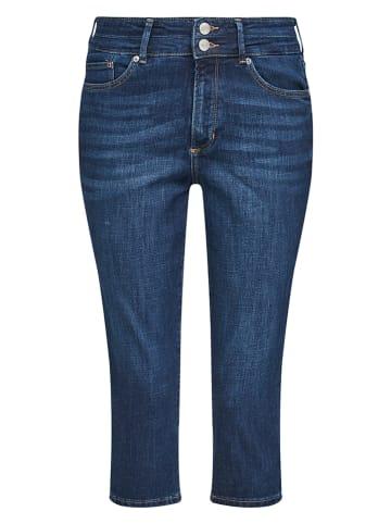 S. Oliver Capri-spijkerbroek - slim fit - lichtblauw