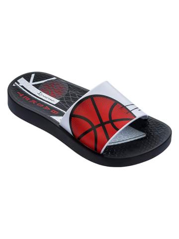 """Ipanema Klapki """"Urban II Slide"""" w kolorze czerwono-czarno-białym"""