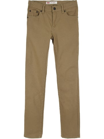 """Levi's Kids Spodnie """"510"""" - Skinny fit -  w kolorze jasnobrązowym"""